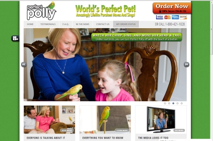 Perfect Polly Pet Website snapshot