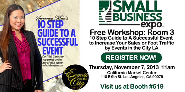 Sweeney Mae hosts a workshop at the Small Business Expo