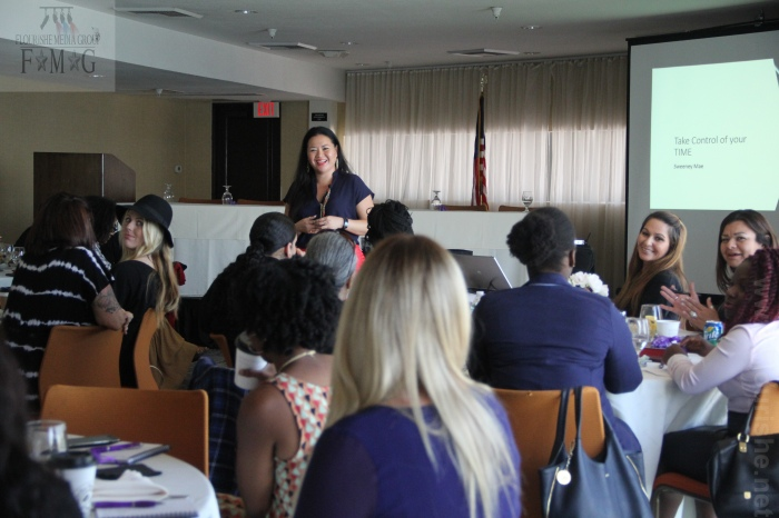 Sweeney Mae speaking at Unspoken Angels Empowherment event
